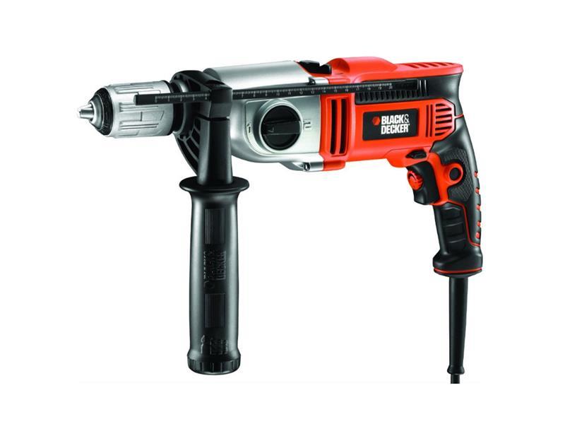 Vrtačka příklepová BLACK & DECKER 850W 2-rychlosti, rychl.sklíč. 13mm, kufr KR8542K-QS