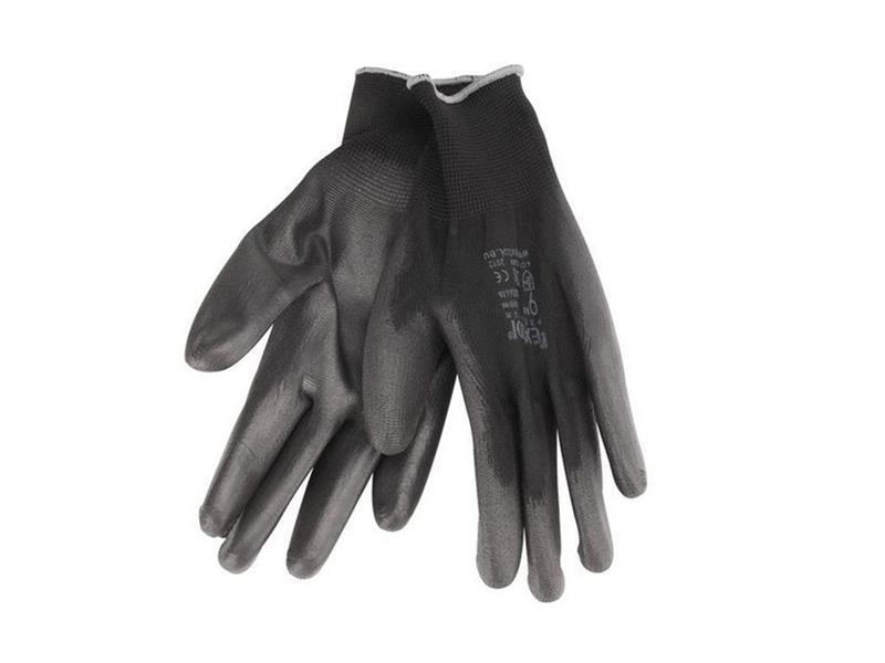 """Rukavice 8"""" černé z polyesteru polomáčené v PU, EXTOL PREMIUM"""