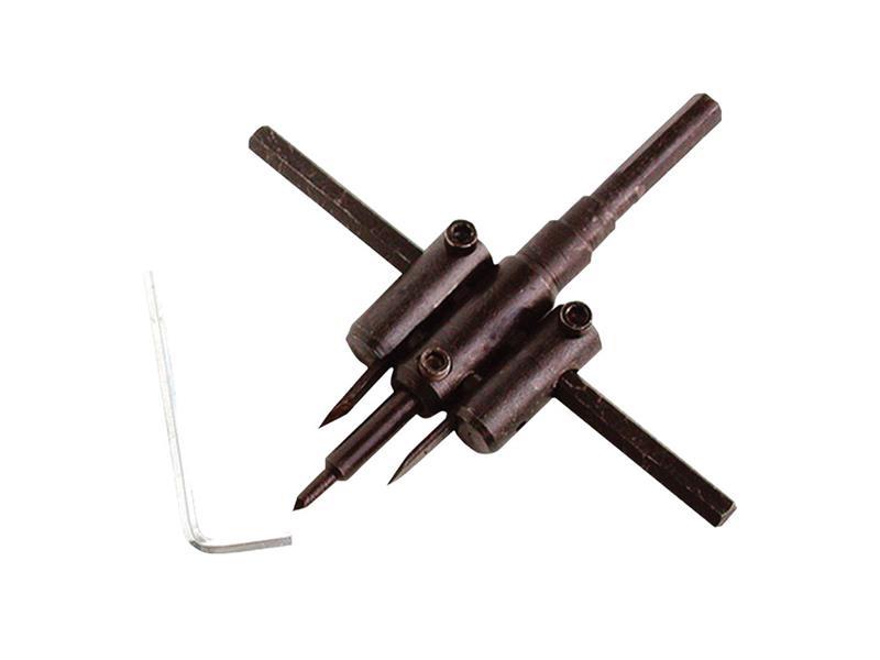 vrták nastavitelný vykružovací do dřeva s 2břity, 30 -120mm, EXTOL CRAFT