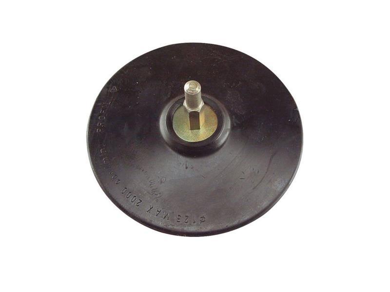 Nosič brusných výseků do vrtačky - suchý zip ∅125mm, stopka 8mm EXTOL CRAFT