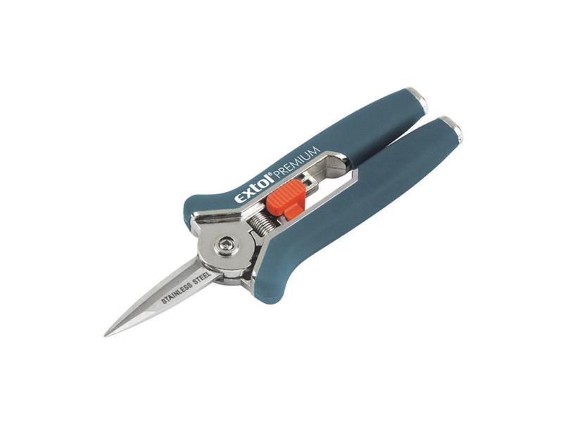 Nůžky zahradnické přímé, mini 153mm, na stříhání rostlin do průměru 6mm EXTOL PREMIUM
