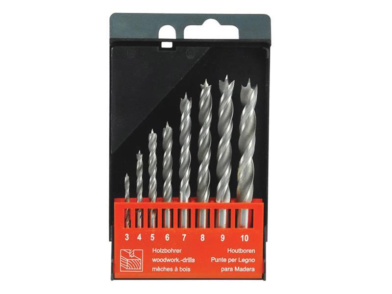 Vrtáky do dřeva, sada 8ks, ∅3-4-5-6-7-8-9-10mm, EXTOL PREMIUM