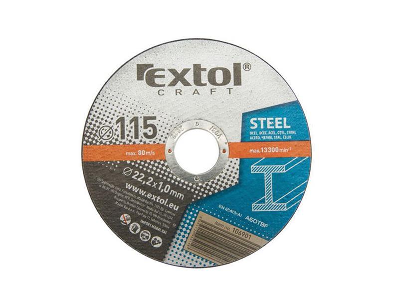 EXTOL kotouče řezné na kov, 5ks,115x1,0x22,2mm,EXTOL CRAFT(106901)