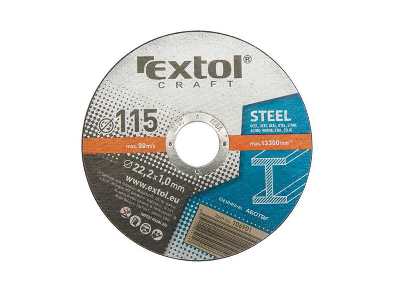 Kotouče řezné na kov, 5ks 125x1,0x22,2mm EXTOL CRAFT 106902