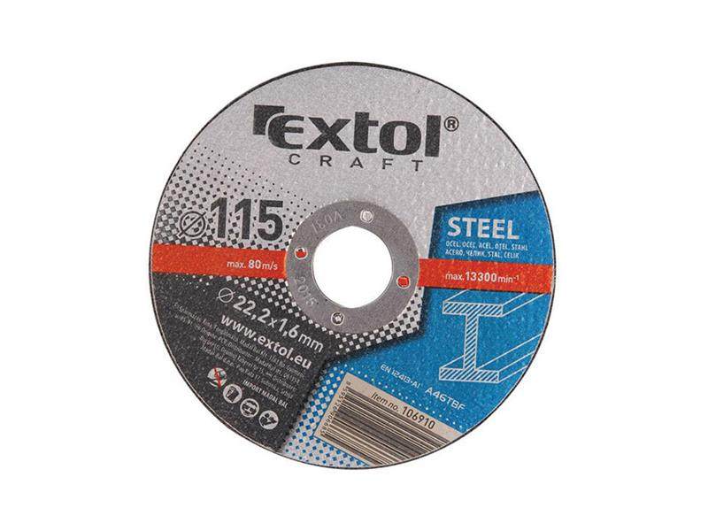 Extol Craft kotouče řezné na kov 5ks 125x1,6x22,2mm 106920