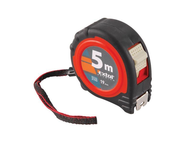 Metr svinovací, 5m, š. pásku 19mm, EXTOL PREMIUM
