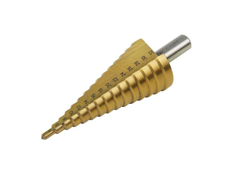 Vrták stupňovitý, O 4-32mm, stupňování po 2mm, 15 otvorů, stopka O 10mm, EXTOL CRAFT