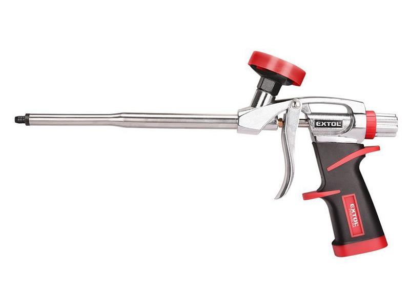 Pistole na PU pěnu, s regulací průtoku, EXTOL PREMIUM