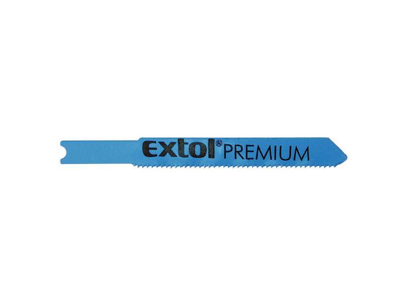 Plátky do přímočaré pily 5ks, 51x1,2mm, úchyt UNIVERSAL, HSS, EXTOL PREMIUM