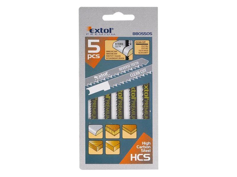 Plátky do přímočaré pily 5ks 75x2,5mm EXTOL PREMIUM 8805505