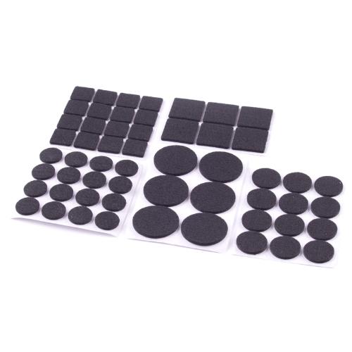 Podložka filcová TES 108354 černá 56ks