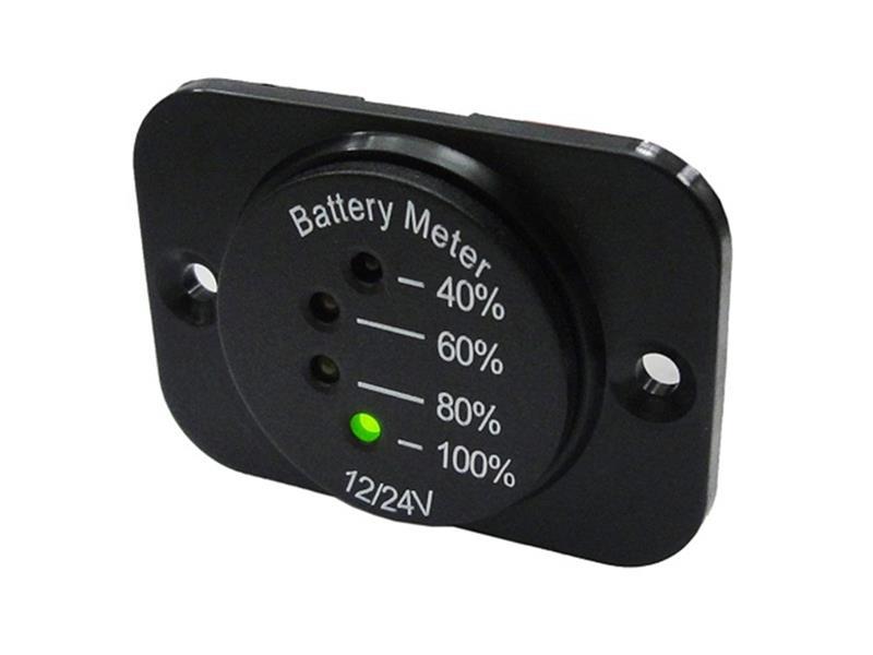 STUALARM Panelové měřidlo DV34542 indikátor baterie 12-24V včetně panelu