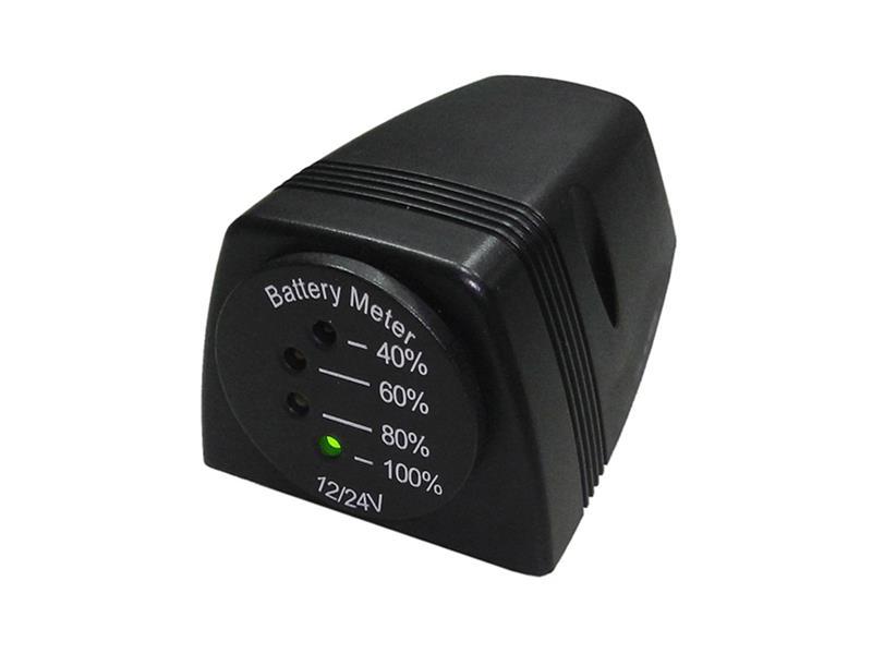LED indikátor baterie 12-24V včetně držáku
