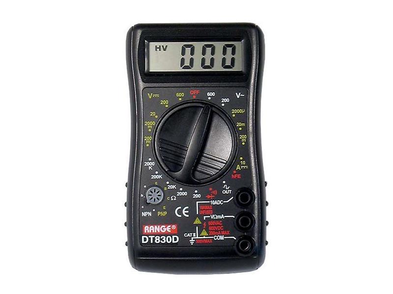 Multimetr DT830D RANGE
