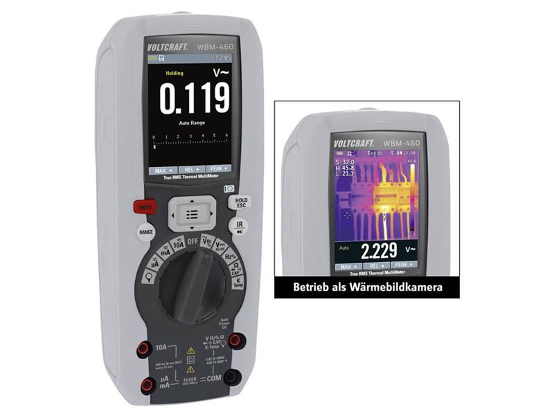 Multimetr VOLTCRAFT WBM-460 s termokamerou 80 x 80 pix