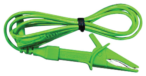 Šňůra měřicí - krokosvorka/ 120cm (CAT II)  zelená