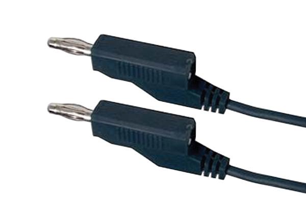 Propojovací kabel 0,35mm2/ 1m s banánky černý