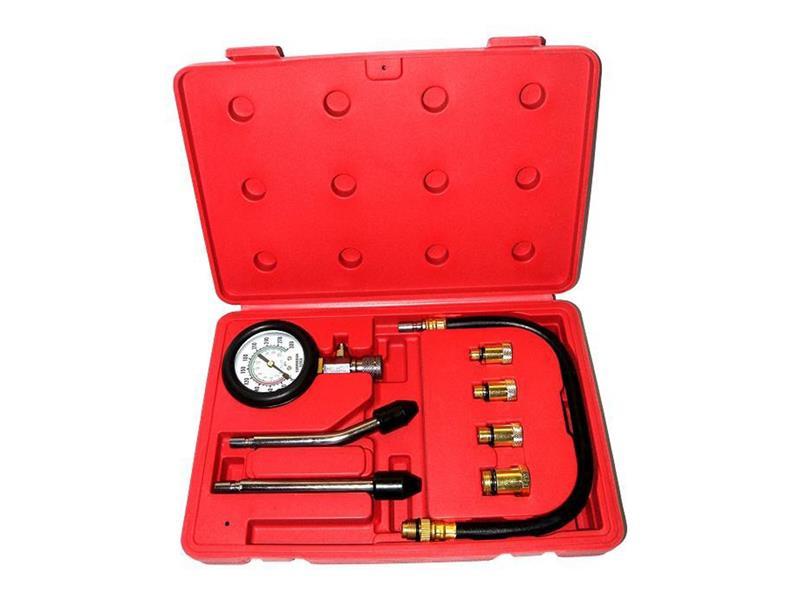 Kompresiometr pro zážehové motory, sada 8ks, tester komprese
