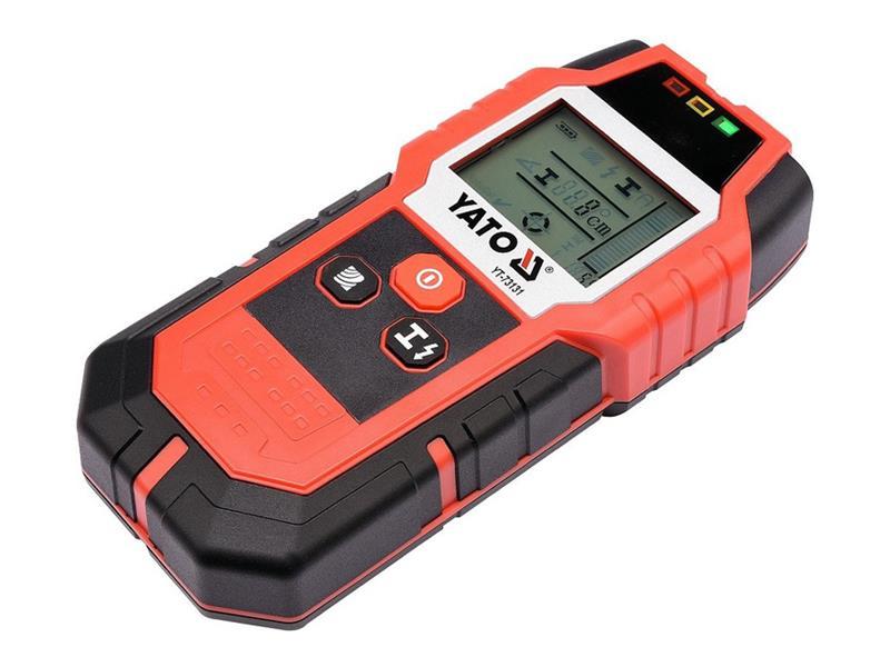 Detektor kovů a elektrických vedení YATO YT-73131
