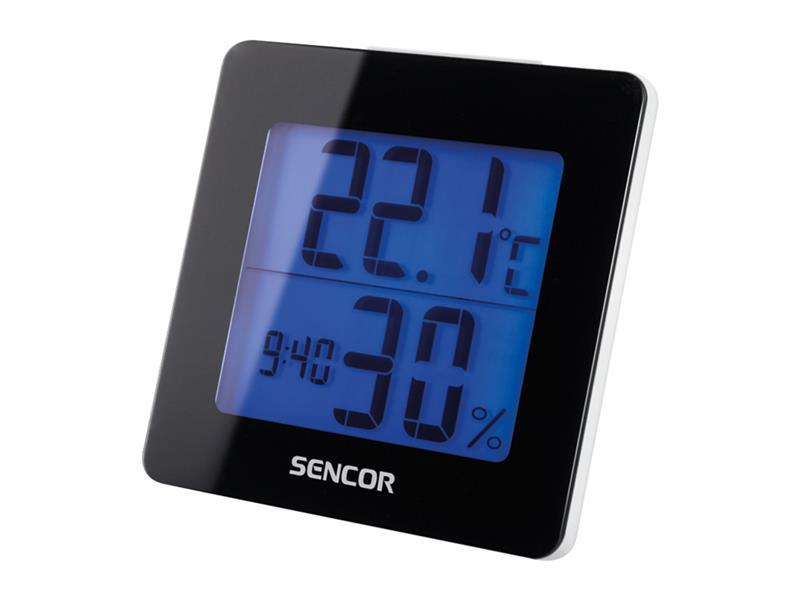 Teploměr SENCOR SWS 1500 B s hodinami