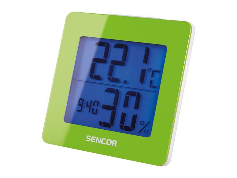 Teploměr SENCOR SWS 1500 GN s hodinami