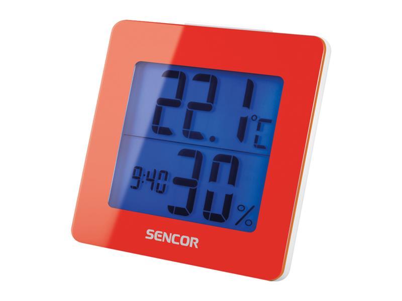 Teploměr SENCOR SWS 1500 RD s hodinami