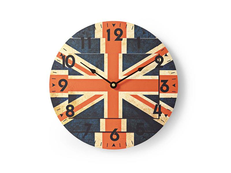 Hodiny NEDIS BRITISH FLAGS 30cm