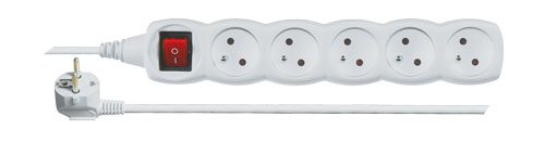Prodlužovací kabel s vypínačem 5 zásuvek  2m