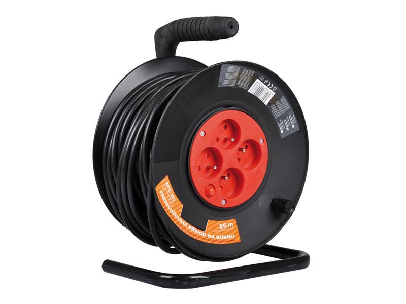 Emos prodlužovací kabel na bubnu 25m 4 zásuvky