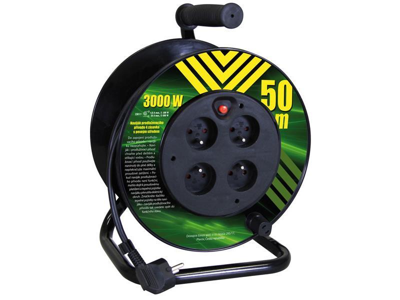 Emos Prodlužovací kabel na bubnu 50m 4 zásuvky P19450P
