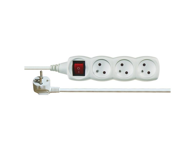 Prodlužovací kabel s vypínačem 3 zásuvky  1,2m