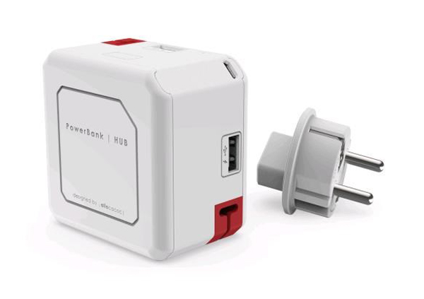 HUB PowerCube POWERUSB PORTABLE bílá E9402