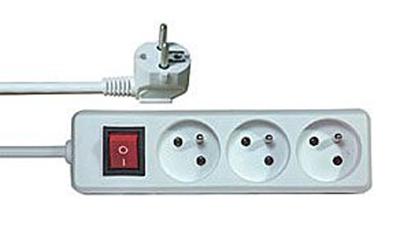 Prodlužovací kabel s vypínačem 3 zásuvky  1,5m.