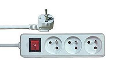 Prodlužovací kabel s vypínačem 3 zásuvky  3m.