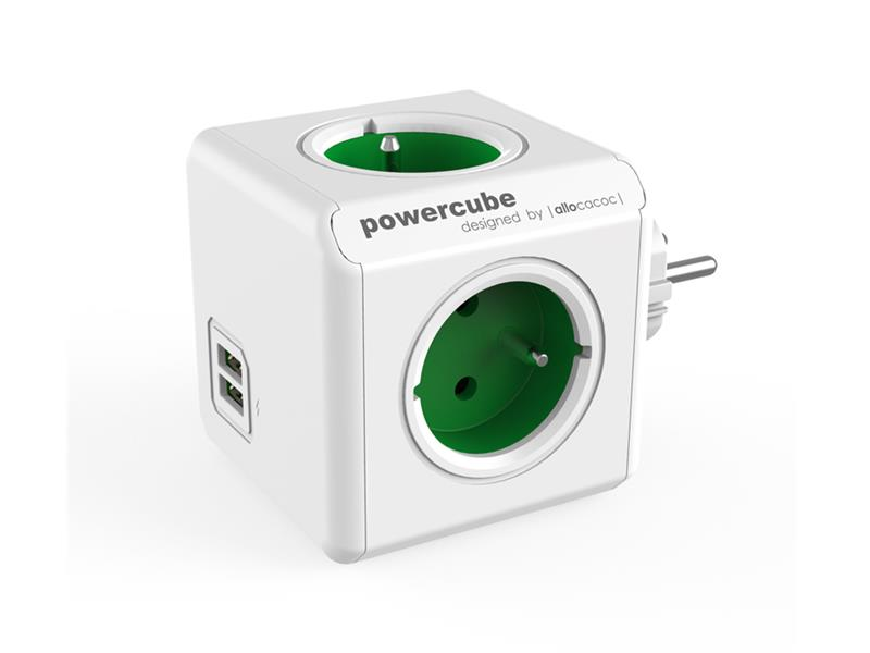 Zásuvka POWERCUBE ORIGINAL USB GREEN