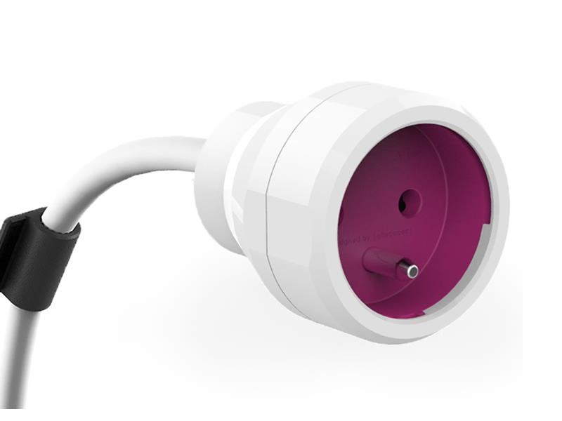 Kabel prodlužovací PowerCube POWER EXTENSION 5m fialový