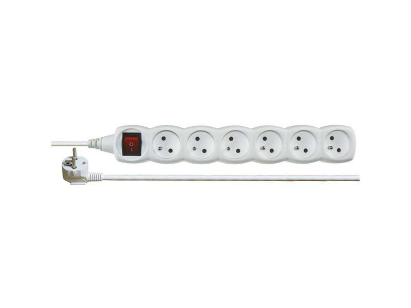 Prodlužovací kabel s vypínačem 6 zásuvek  1,5m