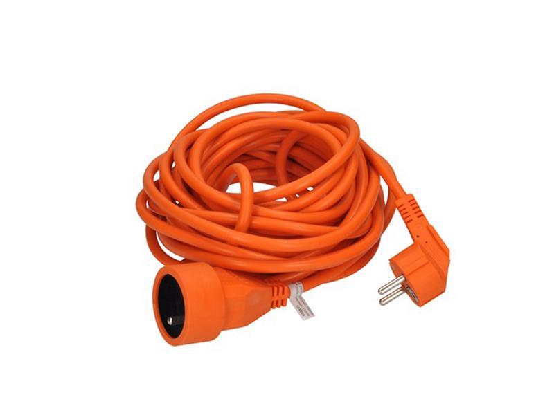 Prodlužovací kabel - spojka, 1 zásuvka, oranžová, 7m
