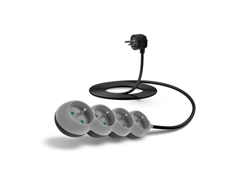 Prodlužovací kabel CONNECT IT CI-1334, 230 V, 4 zásuvek, 3 m, bez vypínače (šedý)