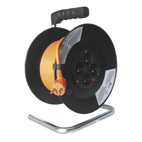 Prodlužovací kabel na bubnu - 4 zásuvky 20m SOLIGHT PB09