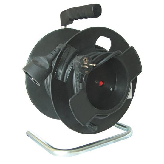 Prodlužovací kabel na bubnu - 1 zásuvka 25m SOLIGHT PB11