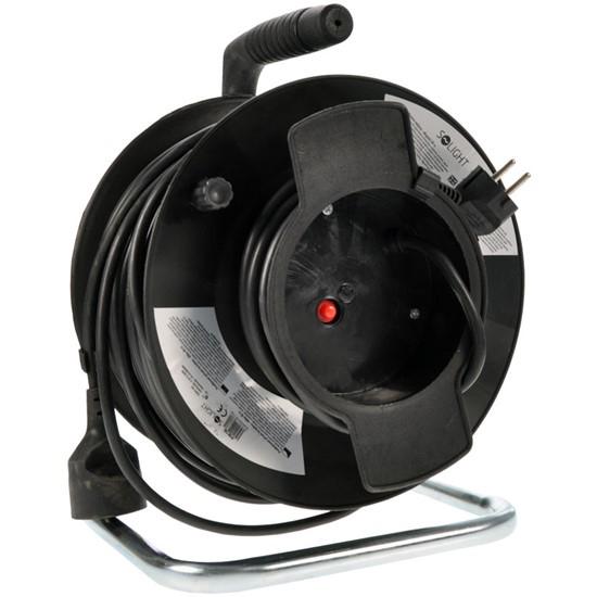 Prodlužovací kabel na bubnu - 1 zásuvka 50m SOLIGHT PB12