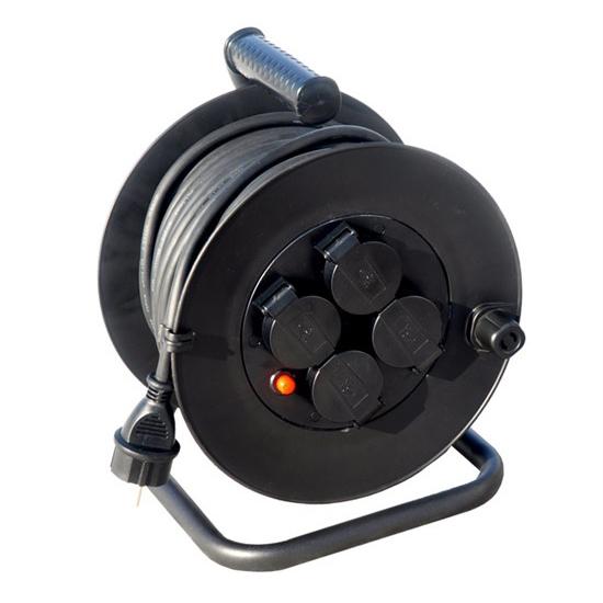 Prodlužovací kabel na bubnu - 4 zásuvky 25m SOLIGHT PB33