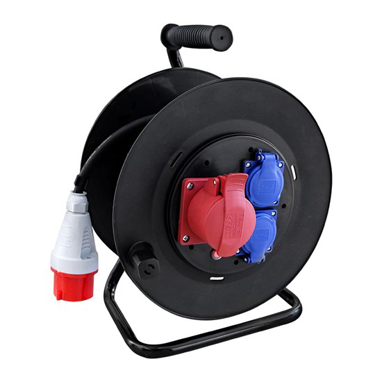 Prodlužovací kabel na bubnu - 3 zásuvky 25m SOLIGHT PB40