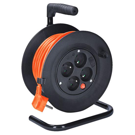 Prodlužovací kabel na bubnu - 4 zásuvky 15m SOLIGHT PB22O