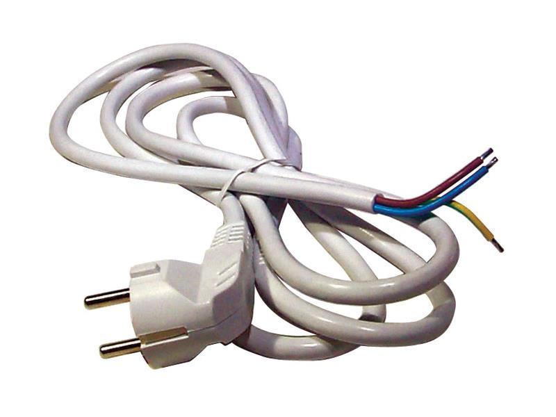 Flexo šňůra PVC 3x0,75mm 3m bílá