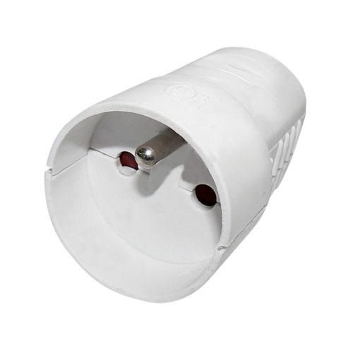 EMOS Spojovací zásuvka bílá