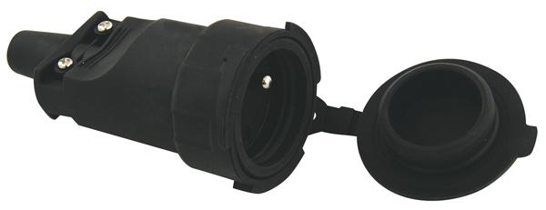 Zásuvka gumová EMOS P0044 IP65
