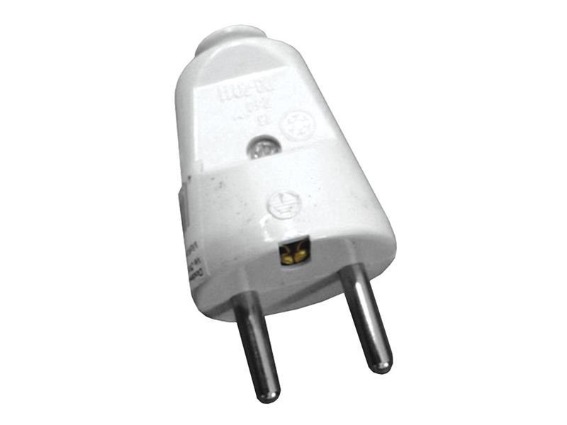 Solight zástrčka přímá IP20 bílá