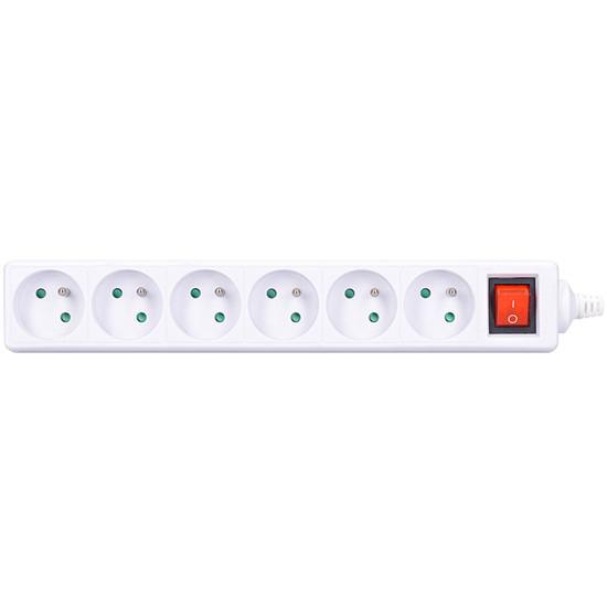 Zásuvka SOLIGHT PZ18 6 zásuvek s vypínačem